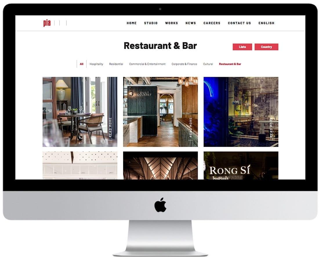 5 PIA Interior Website design and website development