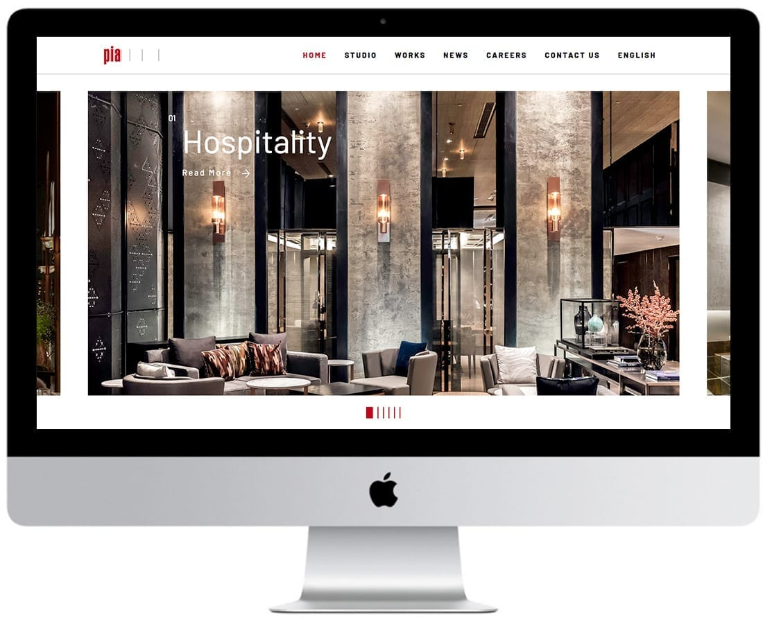 7 PIA Interior Website design and website development