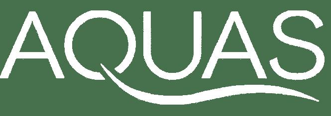 Aquas Shower Logo full white