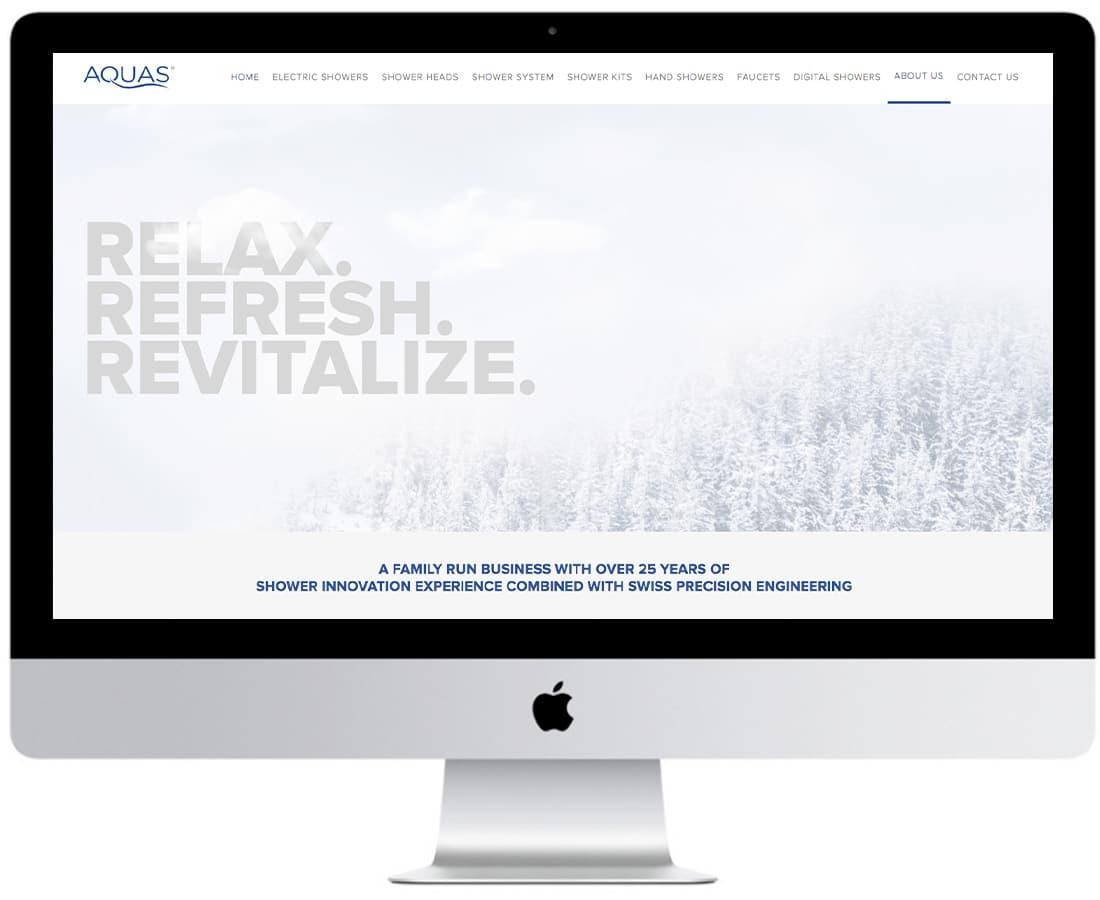 Aquas Website Design Ecommerce 2