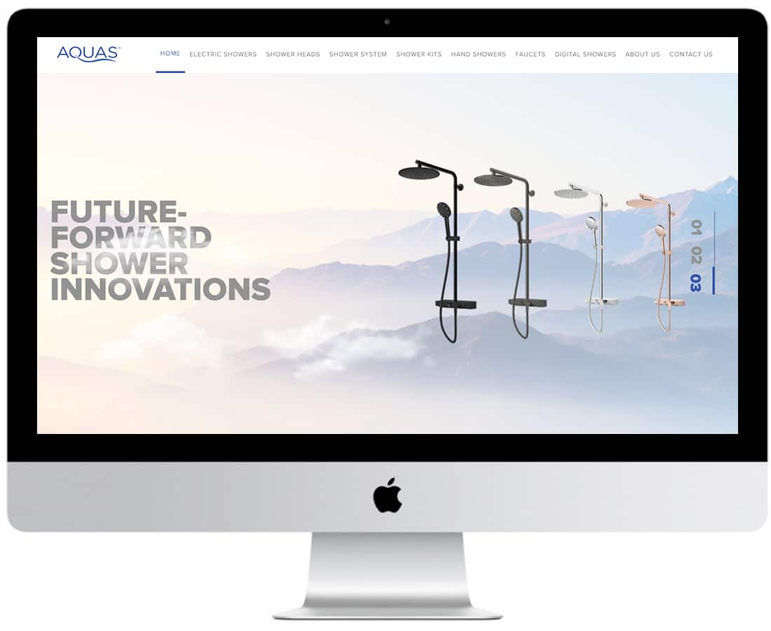 Aquas Website Design Ecommerce