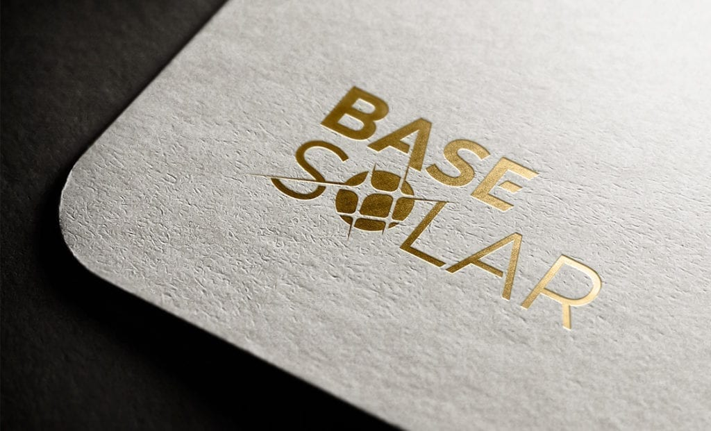 Base Solar Logo Design Full gold Logo 1