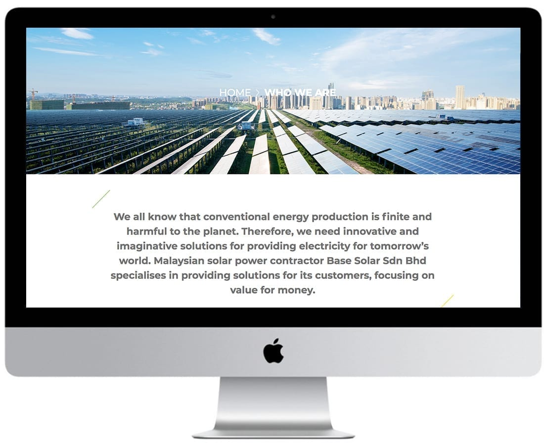 Base Solar Website Design Mockup 4