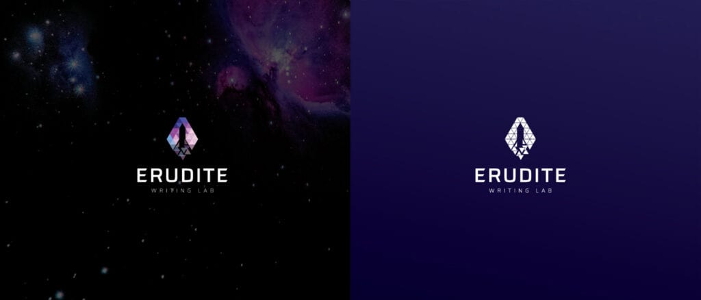 Euridite Logo Concept 1 with color background Designed by Asia Media