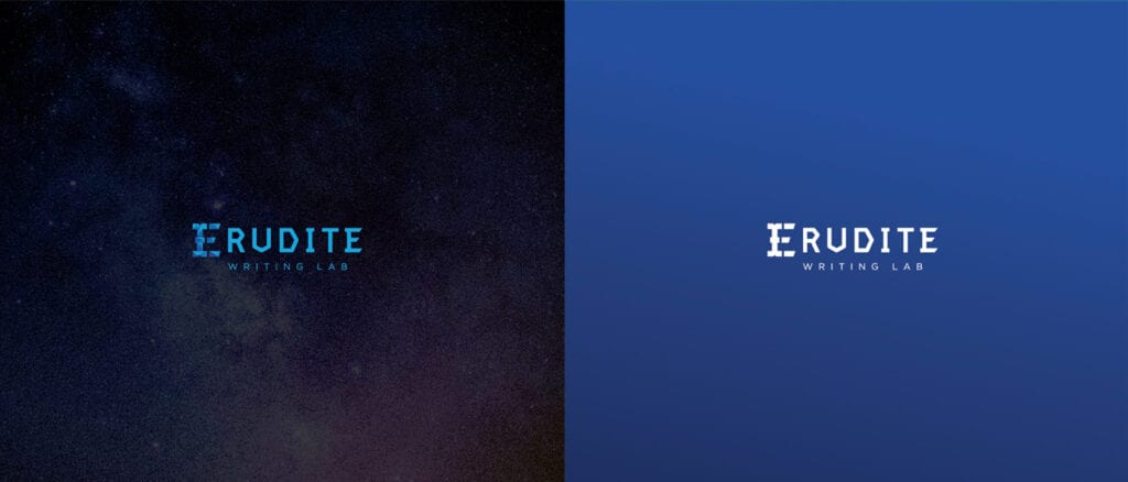 Euridite Logo Concept 2 with color background Designed by Asia Media