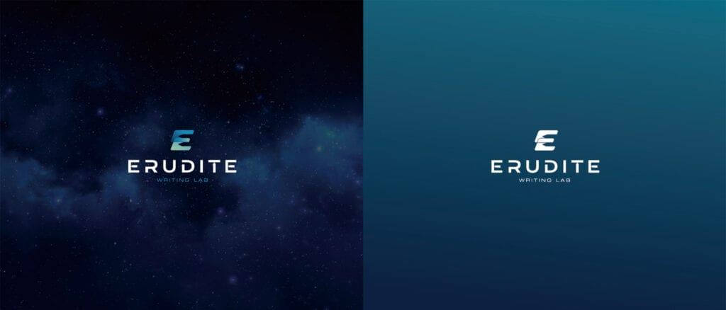 Euridite Logo Concept 4 with color background Designed by Asia Media