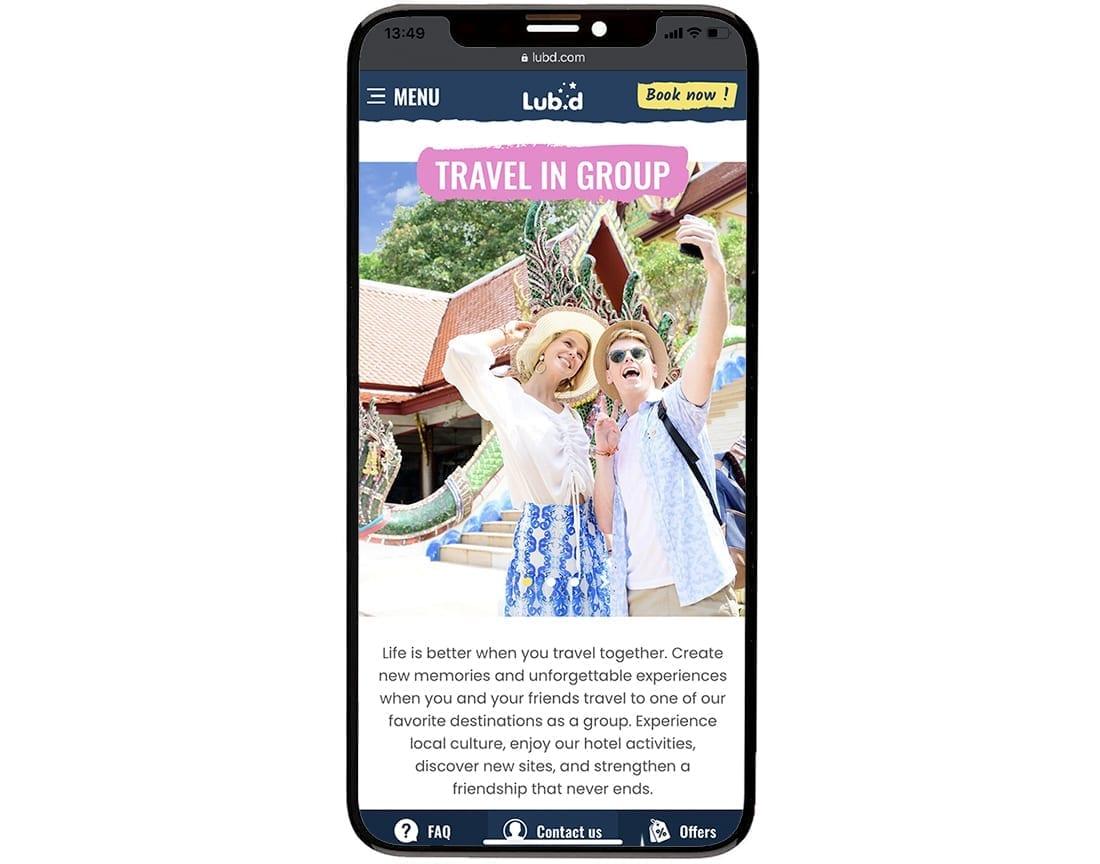 Lub D Mobile Website Design Development 10