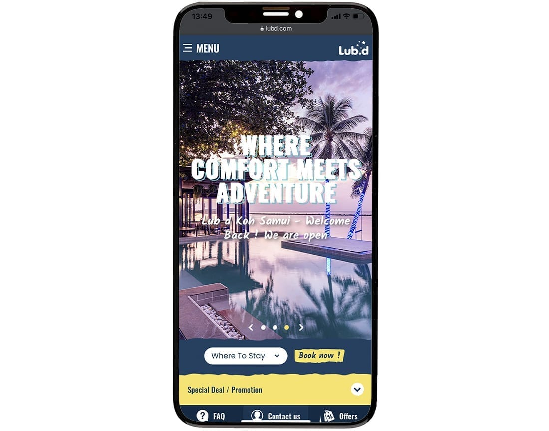 Lub D Mobile Website Design Development 2
