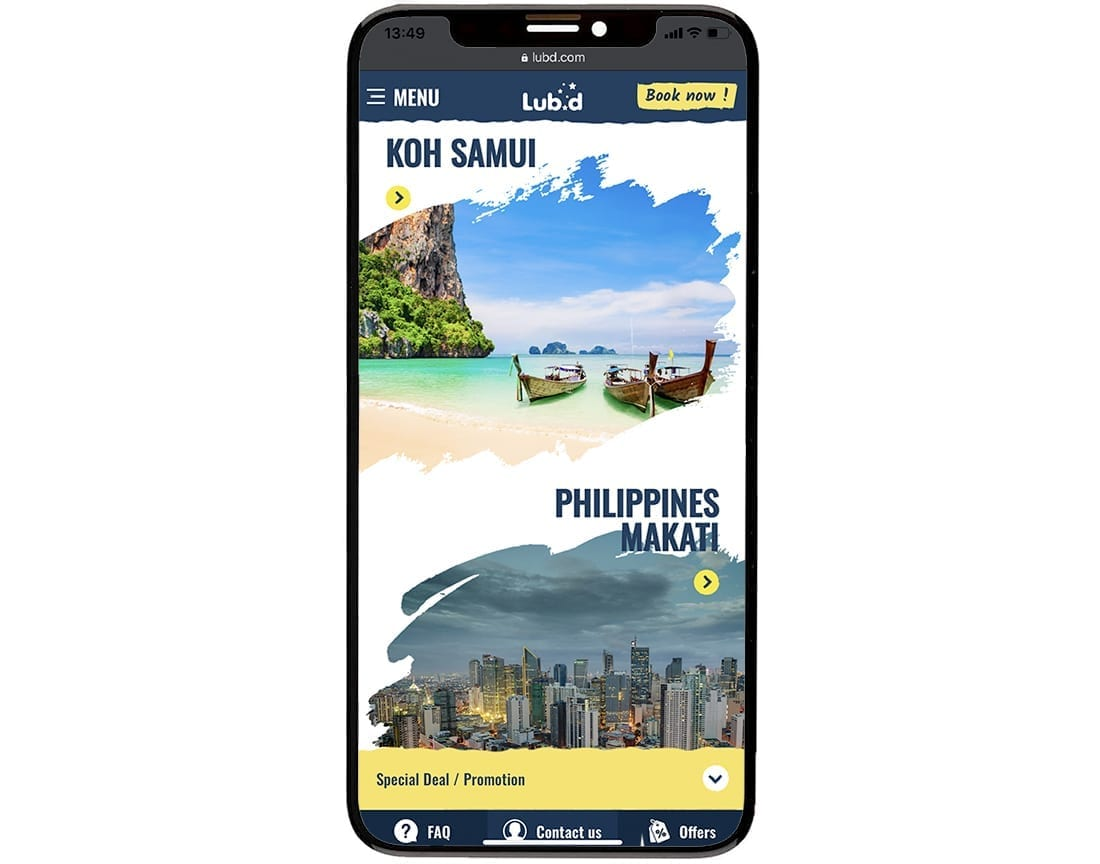 Lub D Mobile Website Design Development 3