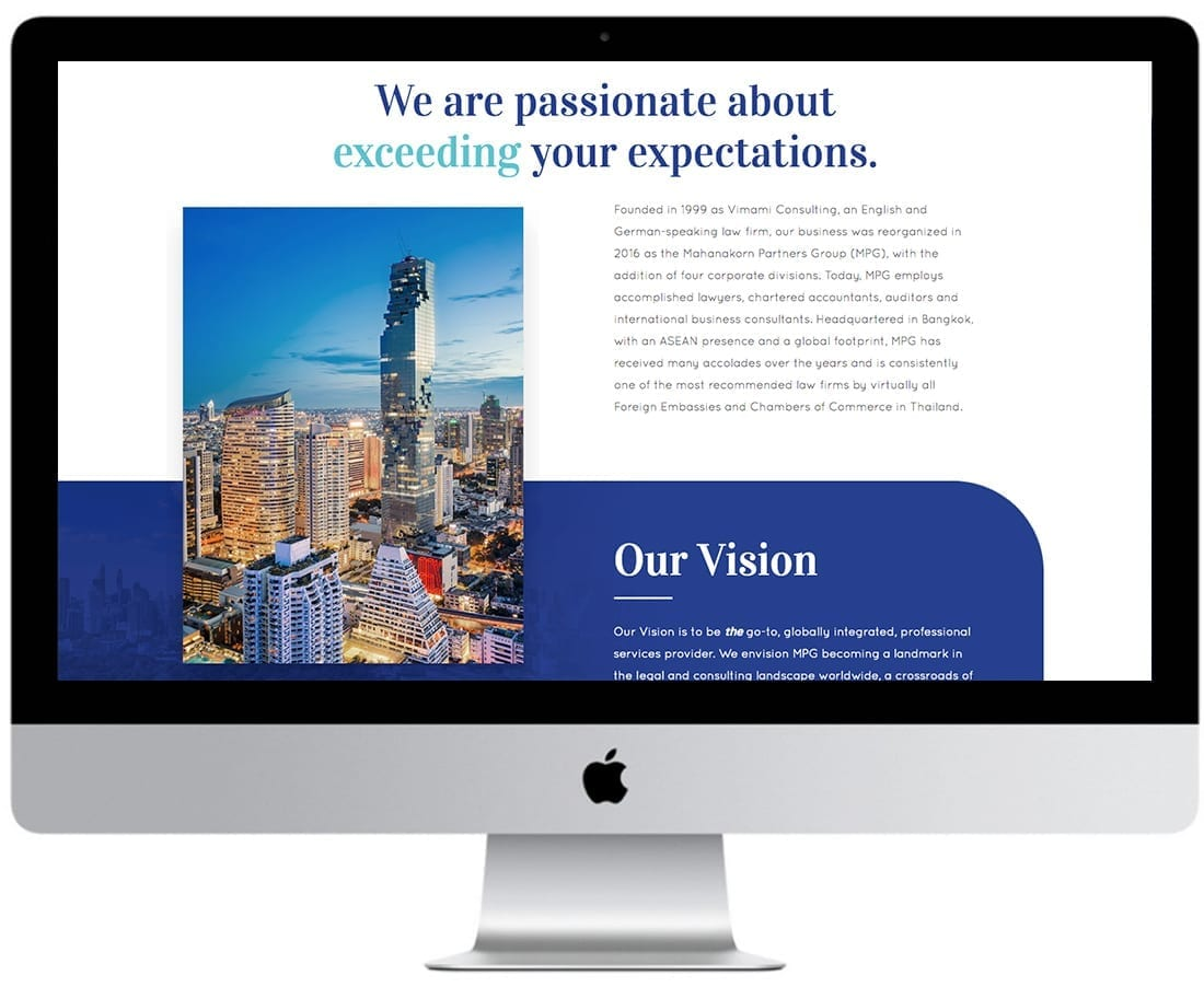 Mahanakorn Partners Website Design Mockup 3
