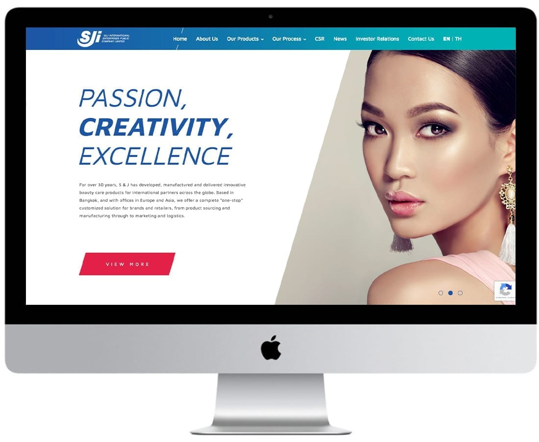 SJ International Make Up Website Design Mockup 3