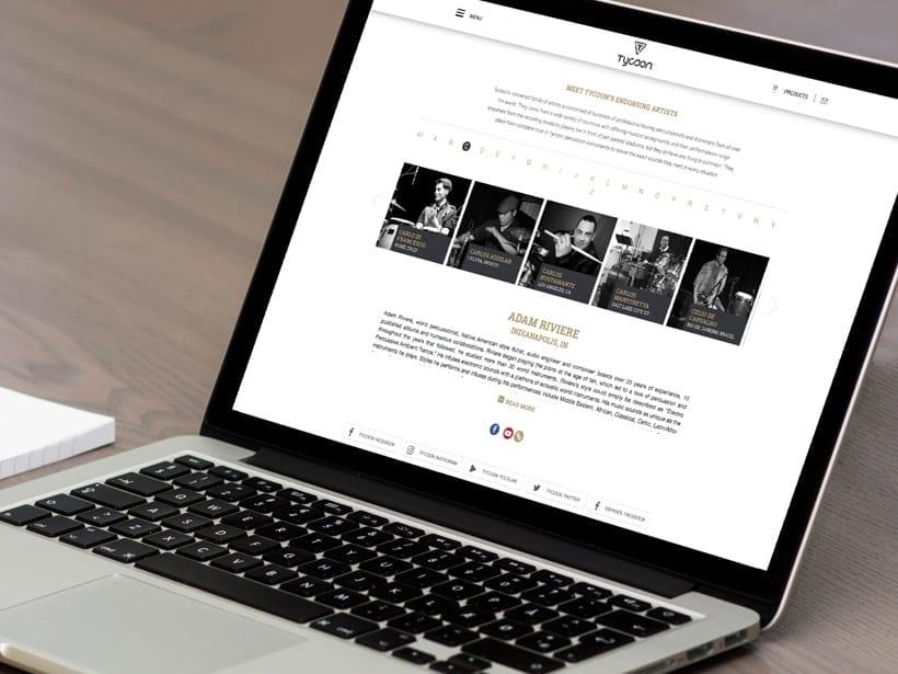 Tycoon - Website on Macbook